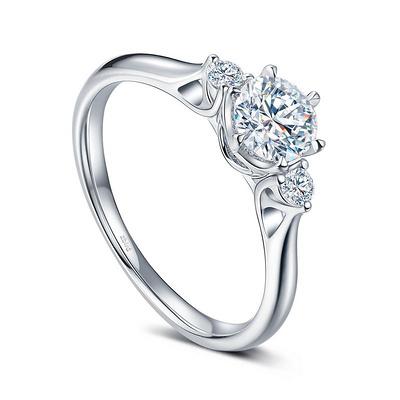 三世之约 白18K金钻石女戒