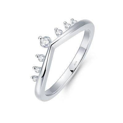 圣枝(护戒) 白18K金钻石女戒