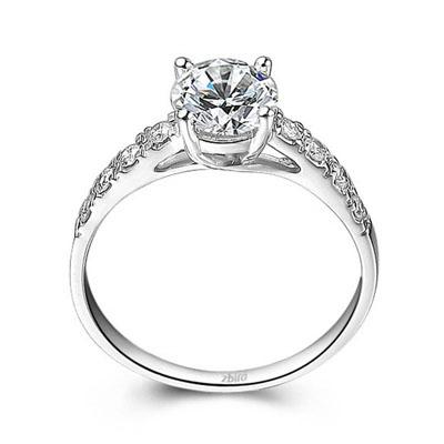 花香沁雅 - 铂900钻石戒指