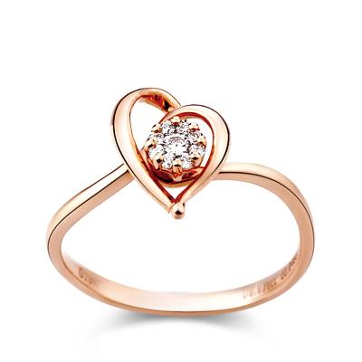 红18K金钻石戒指-婀娜沁婷
