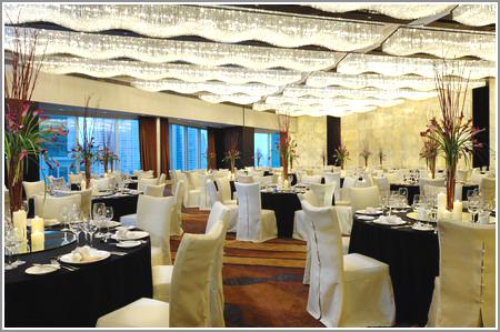 婚礼宴会厅效果图白色欧式