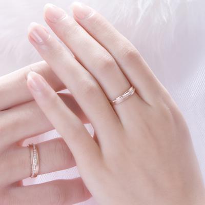 糖色爱语 - 红18K金钻石对戒